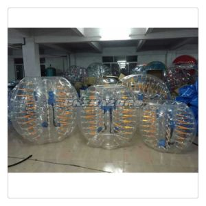 New Popular Yellow Shining Inflatable Bubble Soccer Ball pictures & photos