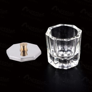 New Crystal Dish Glass Dippen for Nail Art Acrylic Liquid with Metal Cap