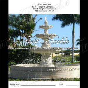 Beautiful Metrix Carrara Fountain for Garden Decoration Mf-1098 pictures & photos