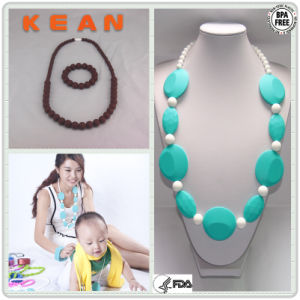 Chic Bead Necklace/Promotional Silicone Teething Jewelry Bling Gift (#13)
