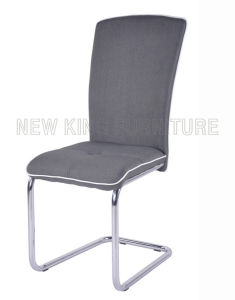 Modern Cheap Chrome Steel Foot Fabric Dining Chair (NK-DC046)