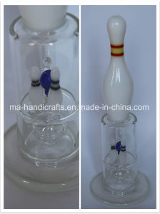 "14"" Bowling Smoking Glass Water Pipes with Triple Perc pictures & photos"