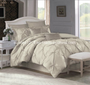 Quilt Sr-CS170222-1 Embroidered Satin Gold Rose Comforter Set pictures & photos