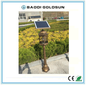 Hot Sale Outdoor Solar Mosquito Killer Lamp, European Style pictures & photos