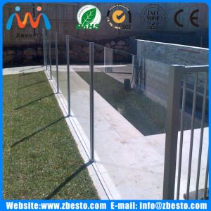 1500mm Tempered Clear & Frosted Leisure Pools Glass Safeguard Fencing Company