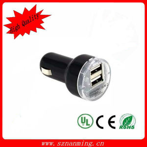 Dual USB Port Car Charger with Fast Speed Chaging pictures & photos