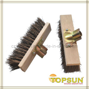 32cm French Style Natural Fiber Wooden Block Garden Cleaning Brush