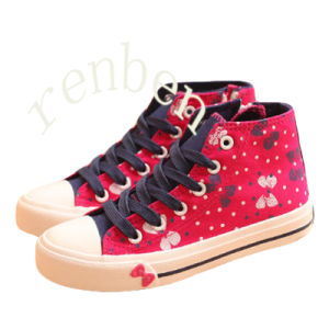 Hot New Sale Fashion Children′s Casual Canvas Shoes pictures & photos