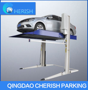 Movable Two Post Auto Parking Lift pictures & photos
