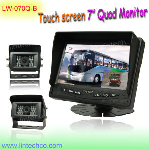 7 Inches Quad Monitor Truck Reversing Camera System
