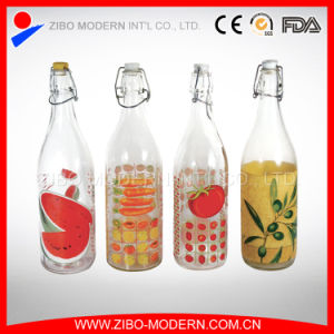 Wholesale Custom Design 1 Liter Glass Beverage Bottles for Drinking pictures & photos