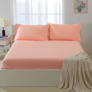 Cotton Polyester Fitted Sheet Sets solid Color pictures & photos