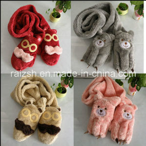 Gloves, Scarves Integrated Plush Women′s Long Scarves pictures & photos