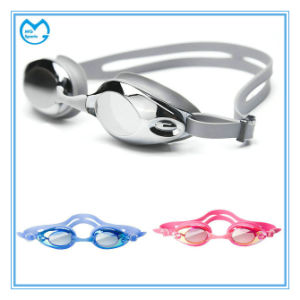 Customized Myopia Silicone Anti Slip Swimming Goggles pictures & photos