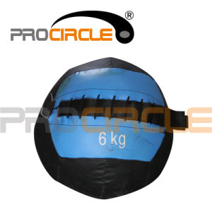 Crossfit Leather Medicine Ball Weighted Wall Ball (PC-MB1116) pictures & photos