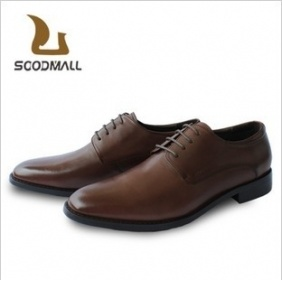 Soodmall Korean Wedding Shoes Men′s Brown Leather Shoes
