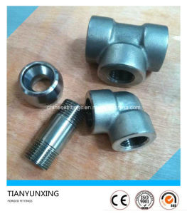 Duplex Stainless Steel Socket Weld Threaded Forged Fittings pictures & photos