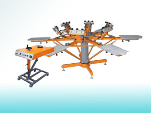 Manual Textile Carousel Screen Printing Machine  (SP-6C6SM) pictures & photos