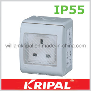 13A 250V Single British Outdoor Wall Socket pictures & photos