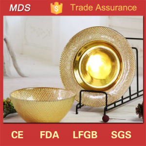 Gold Catering China Glass Charger Plates Wedding and Home pictures & photos