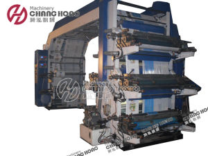 Double Wind 6 Color Flexographic Printing Machine (CH886) pictures & photos