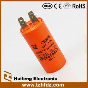 Hf AC Motor Run 450V 6UF Orange Capacitor pictures & photos