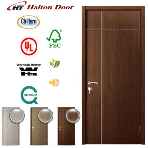 Flush Interior Ash Wood Door with Aluminium Alloy Strip Decoration pictures & photos