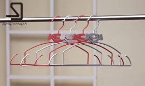 Special Design Hotel Wire Clothes Hanger, Cheap Metal Garment Hanger pictures & photos