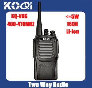 Fashion Nice Design Kq-V8s UHF 400-470MHz Handheld Two Way Radio pictures & photos