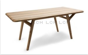 Long and Thick Wood Material Dining Table