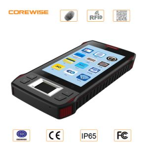 Android 5′′ Quad Core Handheld PDA with RFID Barcode Scanner pictures & photos