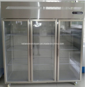 Kitchen Freezer with Three Glass Door pictures & photos