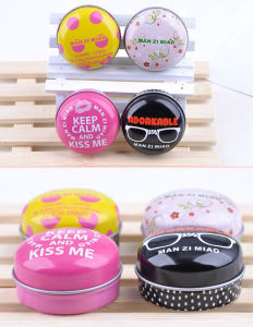 Small Round Tin Box Lip Balm Containers pictures & photos