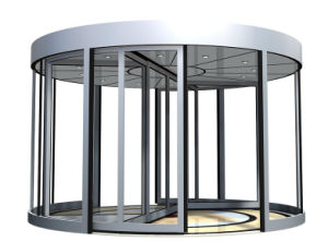 Automatic Revolving Door, Two Wings, Two PCS Lenze Motor, Sliding Auto Door by Dunker Motor pictures & photos