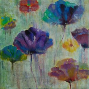 Pofessional Manufacturer Supplier Canvas Flower Oil Painting for Sale (LH-165000) pictures & photos
