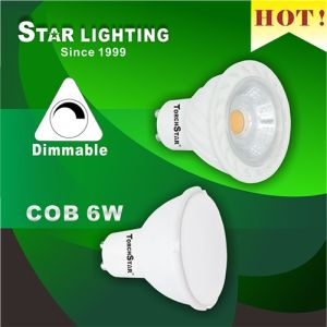 38 Degree Beam Angle Dimmable 6W COB GU10 LED Spotlight pictures & photos