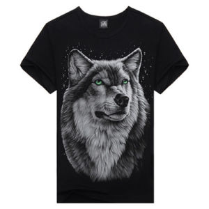 Fashion Cheap Black Men′s 3D Digital Printing T Shirt pictures & photos