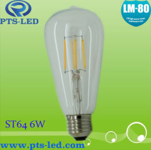 St64 6W Dimmable Filament Bulb pictures & photos