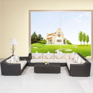 Black and White Outdoor Furniture of Sectional Sofa Set