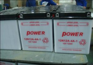 12n12A-4A 12V12ah Conventional Flooded Lead Acid Dry Charged Motorcycle Battery pictures & photos