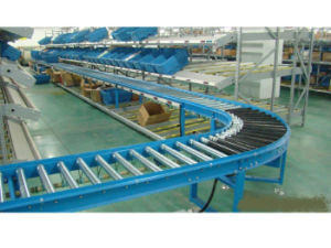 Curved Multi-Track Roller Conveyor Assembly Line-1 pictures & photos