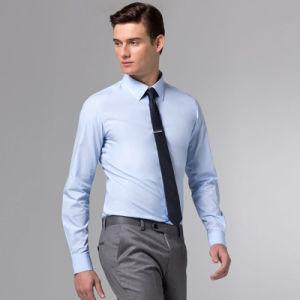 Men Business Light Blue Cotton Shirt