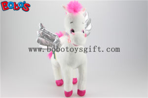36cm New Best Selling Plush Stuffed White Angel Horse Soft Wild Animal Bos1186 pictures & photos