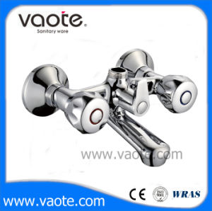 Double Handle Brass Body Shower Faucet (VT60401) pictures & photos