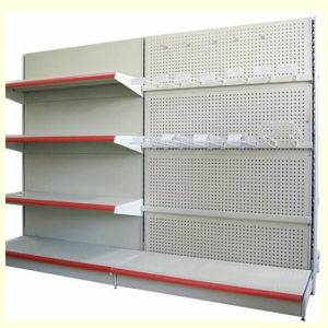 Slotted Wall Supermarket Metal Perforated Shelf pictures & photos