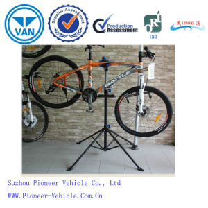 Adjustable Aluminium Alloy Bike Repair Stand with Blue Clamp and Multi-Functional Tray pictures & photos