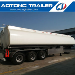 3 Axle 40 Cbm 8 Compartment Fuel Tank Semi Trailer pictures & photos