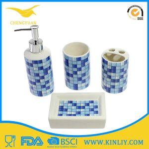 China Ceramic Bath Set Lotion Dispenser Bathroom Accessory 4PCS pictures & photos