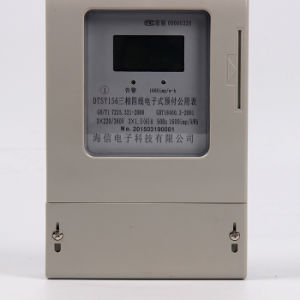 Three Phase Digital Type Prepaid Electricity Watt-Hour Meter Ddsy pictures & photos