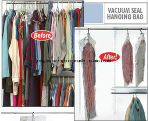 Hanging Hook Hanger Vacuum Storage Bag for Clothing Storage pictures & photos